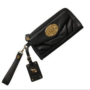 Emma Fox Wristlet Classics Travel Wallet Black